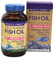 Wiley's Finest - Wild Alaskan Fish Oil Prenatal DHA 600 mg. - 180 Softgels
