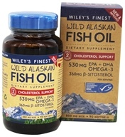 Wiley's Finest - Wild Alaskan Fish Oil Cholesterol Support 800 mg. - 90 Softgels