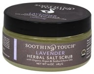 Soothing Touch - Organic Herbal Salt Scrub Calming Lavender - 10 oz.