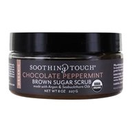 Soothing Touch - Organic Herbal Brown Sugar Scrub Sweet & Refreshing Chocolate Peppermint - 8 oz. LUCKY PRICE