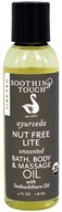 Soothing Touch - Ayurveda Organic Bath, Body & Massage Oil Nut Free Lite Unscented - 4 oz.