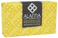 Alaffia - Classic Triple Milled Shea Butter Soap Lemongrass Citrus - 5 oz.