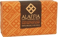 Alaffia - Classic Triple Milled Shea Butter Soap Sandalwood Ylang Ylang - 5 oz.