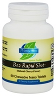 Priority One - B12 Rapid Shot Natural Cherry Flavor 5000 mcg. - 60 Chewable Tablets