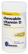 Pharmax - Chewable Vitamin D Natural Blackcurrant Flavor 1000 IU - 90 Chewable Tablets