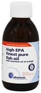 Pharmax - High EPA Finest Pure Fish Oil with Essential Oil of Orange - 5.1 oz.