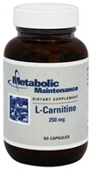Metabolic Maintenance - L-Carnitine 250 mg - 60 Capsules