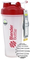 Blender Bottle - Classic Shaker Bottle with Loop Red - 28 oz. By Sundesa