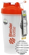 Blender Bottle - Classic Shaker Bottle with Loop Orange - 28 oz. By Sundesa