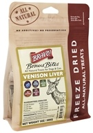 Bravo Pet Foods - Freeze Dried All Natural Treats Venison Liver - 3 oz.