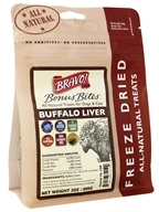 Bravo Pet Foods - Freeze Dried All Natural Treats Buffalo Liver - 3 oz.