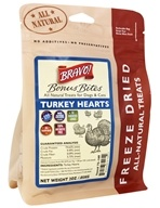 Bravo Pet Foods - Freeze Dried All Natural Treats Turkey Hearts - 2 oz.