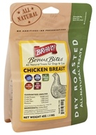 Bravo Pet Foods - Dry Roasted All Natural Treats Chicken Breast - 4 oz.