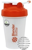 Blender Bottle - Classic Shaker Bottle with Loop Orange - 20 oz. By Sundesa