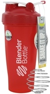 Blender Bottle - Classic Shaker Bottle with Loop Full-Color Red - 28 oz. By Sundesa