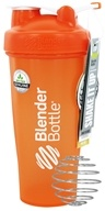 Blender Bottle - Classic Shaker Bottle with Loop Full-Color Orange - 28 oz. By Sundesa