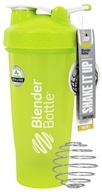 Blender Bottle - Classic Shaker Bottle with Loop Full-Color Green - 28 oz. By Sundesa