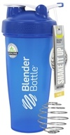 Blender Bottle - Classic Shaker Bottle with Loop Full-Color Blue - 28 oz. By Sundesa