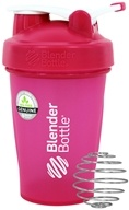 Blender Bottle - Classic Shaker Bottle with Loop Full-Color Pink - 20 oz. By Sundesa