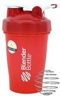 Blender Bottle - Classic Shaker Bottle with Loop Full-Color Red - 20 oz. By Sundesa
