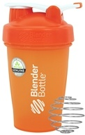 Blender Bottle - Classic Shaker Bottle with Loop Full-Color Orange - 20 oz. By Sundesa