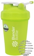 Blender Bottle - Classic Shaker Bottle with Loop Full-Color Green - 20 oz. By Sundesa