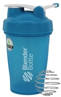 Blender Bottle - Classic Shaker Bottle with Loop Full-Color Aqua - 20 oz. By Sundesa