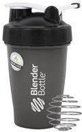Blender Bottle - Classic Shaker Bottle with Loop Full-Color Black - 20 oz. By Sundesa