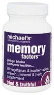 Michael's Naturopathic Programs - Memory Factors - 60 Vegetarian Tablets