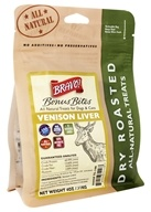 Bravo Pet Foods - Dry Roasted All Natural Treats Venison Liver - 4 oz.