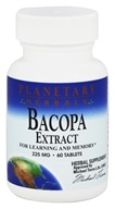 Planetary Herbals - Bacopa Extract 225 mg. - 60 Tablets