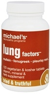 Michael's Naturopathic Programs - Lung Factors - 120 Vegetarian Tablets