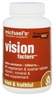 Michael's Naturopathic Programs - Vision Factors - 90 Vegetarian Tablets