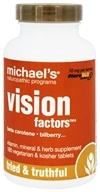 Michael's Naturopathic Programs - Vision Factors - 180 Vegetarian Tablets