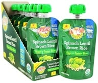 Earth's Best - Organic Veggie & Protein Puree Stage 2 Spinach Lentil Brown Rice - 3.5 oz.