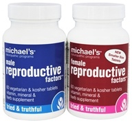 Michael's Naturopathic Programs - Male & Female Reproductive Factors Couples' Pack - 60 Vegetarian Tablets