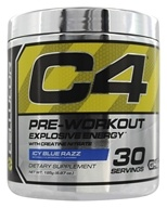 Cellucor - C4 Pre-Workout Explosive Energy Icy Blue Razz 30 Servings - 195 Grams