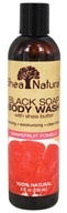 Shea Natural - Black Soap Body Wash with Shea Butter Grapefruit Pomelo - 8 oz.