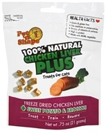 Pet 'N Shape - 100% Natural Chicken Liver Plus Treats For Cats Sweet Potato & Broccoli - 0.75 oz.