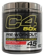 Cellucor - C4 Pre-Workout 50x Powerful Energy Intensifier with XCelicor Fruit Punch 45 Servings - 405 Grams