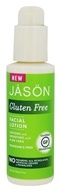Jason Natural Products - Gluten Free Facial Lotion Fragrance Free - 4 oz.
