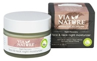 Via Nature - Night Recovery Face & Neck Night Moisturizer - 1.7 oz.