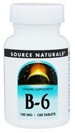 Source Naturals - B-6 100 mg. - 100 Tablets