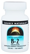 Source Naturals - B2 100 mg. - 100 Tablets