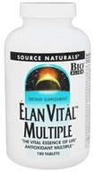 Source Naturals - Elan Vital Multiple - 180 Tablets