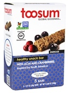 Toosum Healthy Foods - Gluten Free Healthy Snack Bar with Acai and Cranberries - 5 x 1.07 oz. Bars