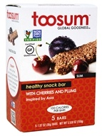 Toosum Healthy Foods - Gluten Free Healthy Snack Bar with Cherries and Plums 5 x 1.07 oz. Bars