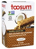 Toosum Healthy Foods - Gluten Free Healthy Snack Bar with Coconut and Chamomile 5 x 1.07 oz. Bars