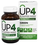 UP4 - Green Probiotic Supplement with Organic Spirulina - 60 Vegetarian Capsules