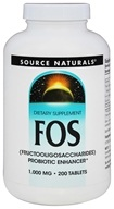Source Naturals - FOS (Fructooligosaccharides) 1000 mg. - 200 Tablets